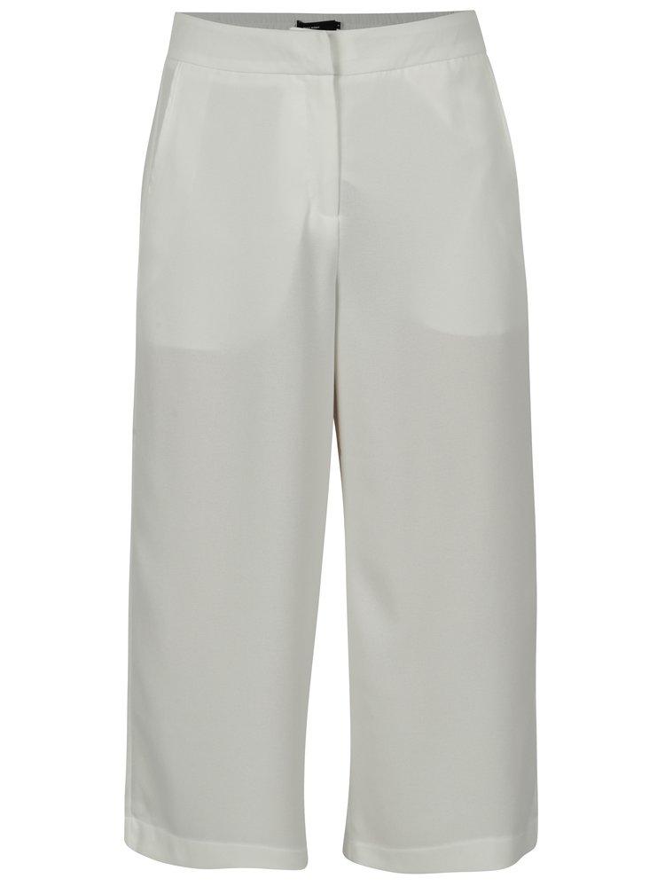 Pantaloni culottes crem cu talie inalta - VERO MODA Isabel