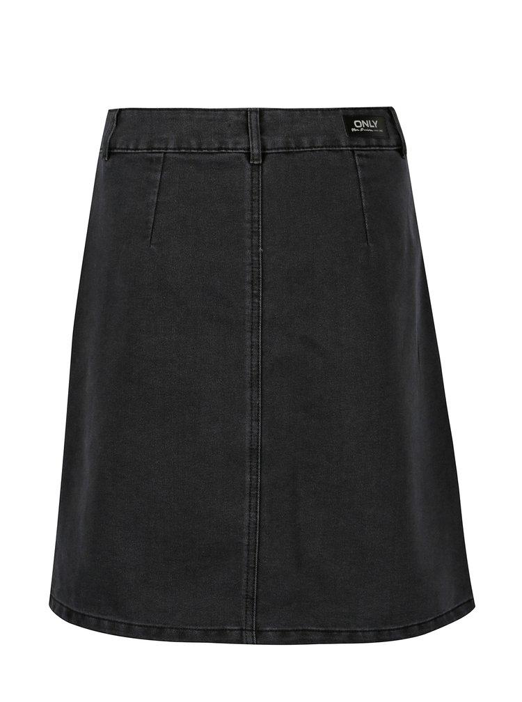 Tmavě šedá džínová sukně ONLY Farrah