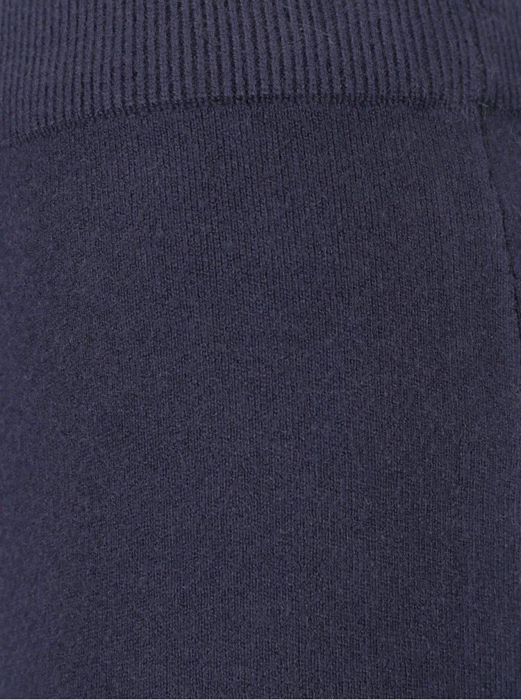 Tmavě modrá svetrová sukně s volánem VILA Olivina