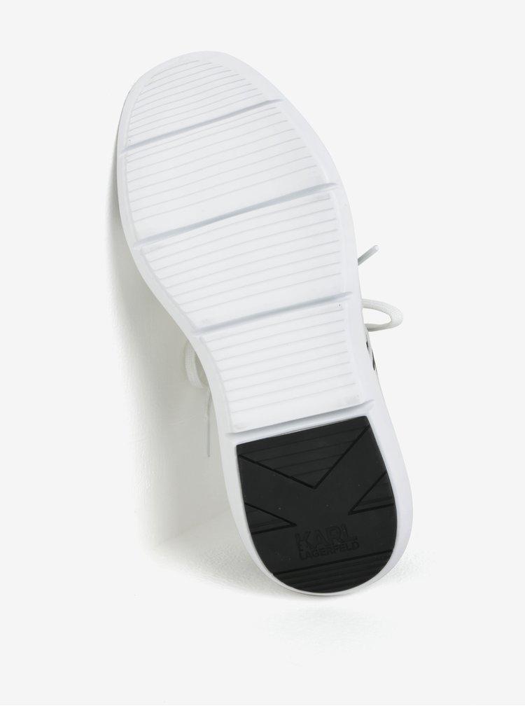Čierno-biele kožené tenisky KARL LAGERFELD Vitesse