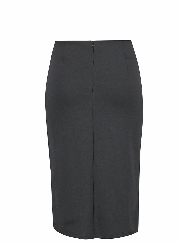 Černá sukně s překládanou přední částí VILA Ane