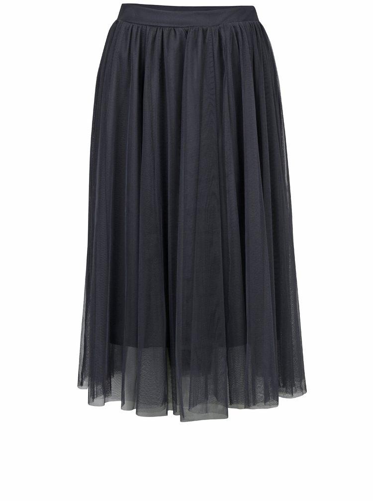 Šedá tylová midi sukně Dorothy Perkins