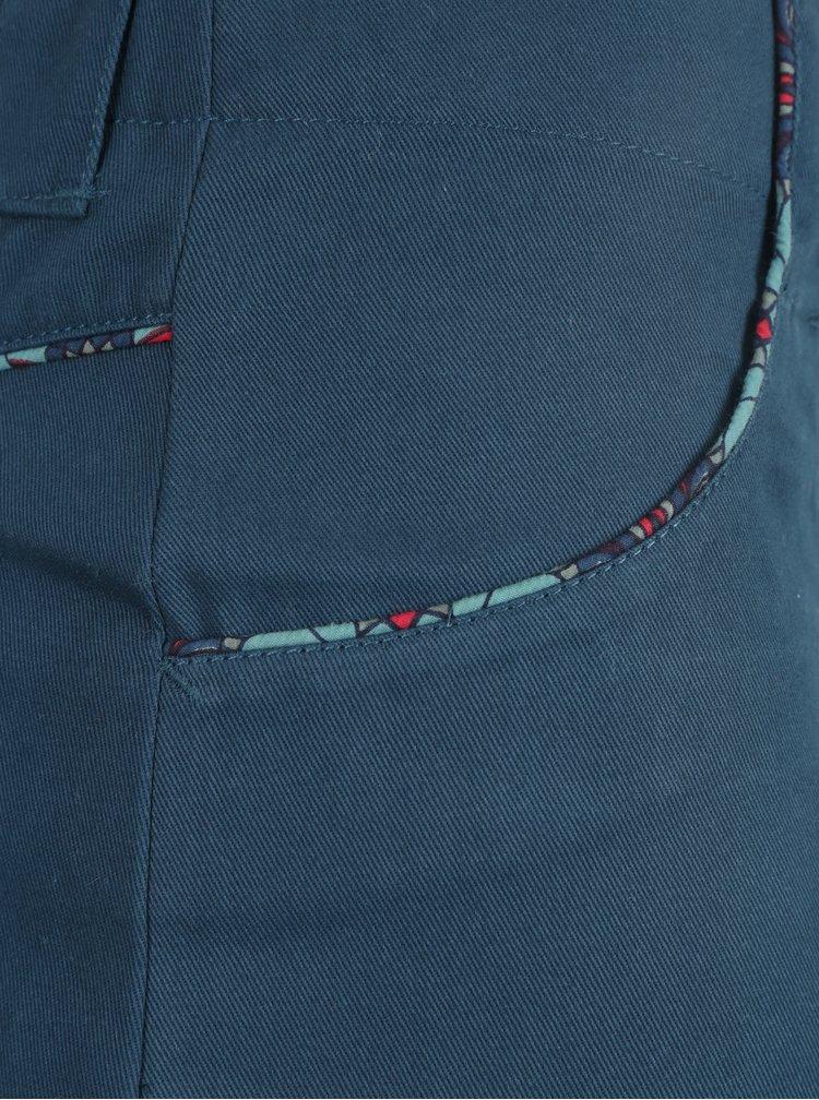 Petrolejová sukně s kapsami Tranquillo Julia