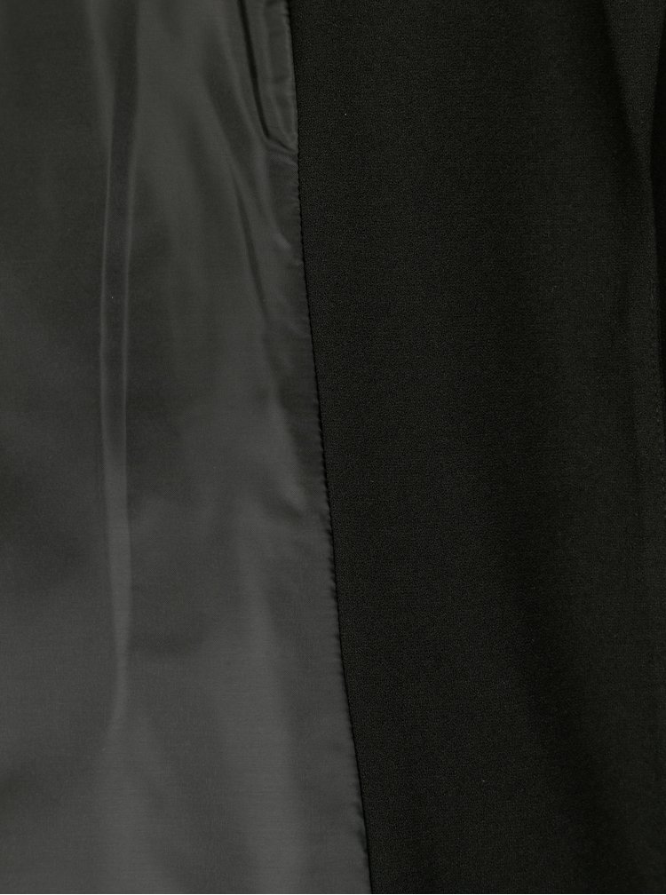 Pardesiu negru cu cordon textil - ONLY Dicte