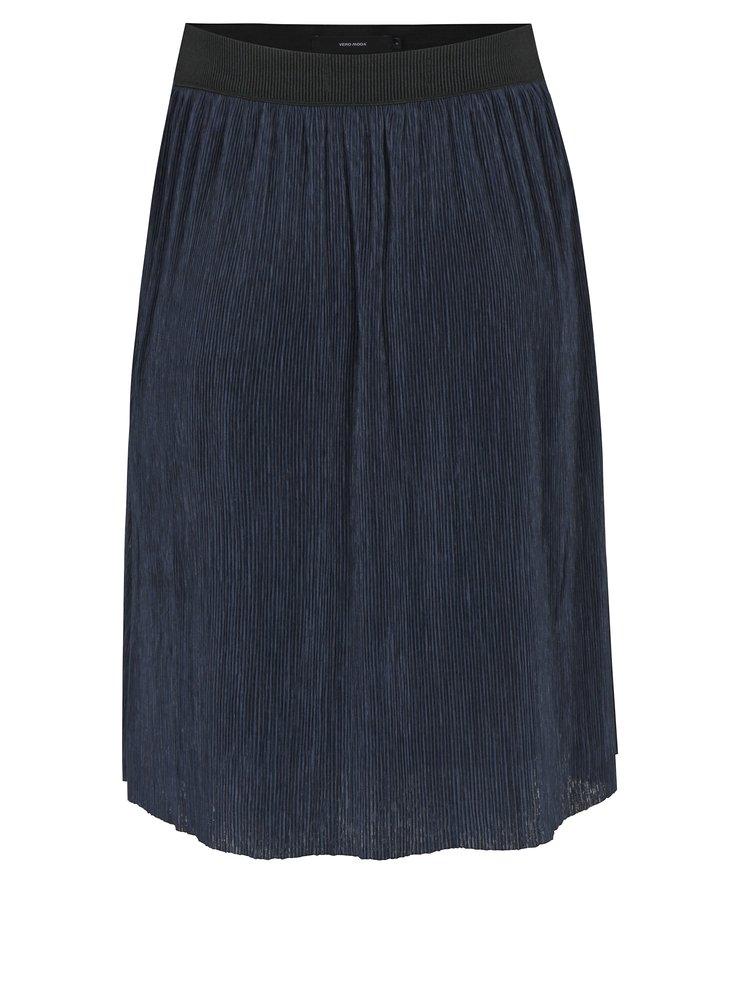 Tmavomodrá plisovaná sukňa VERO MODA Mila
