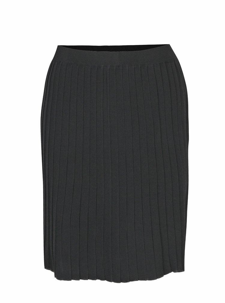 Černá žebrovaná sukně VILA Plissani