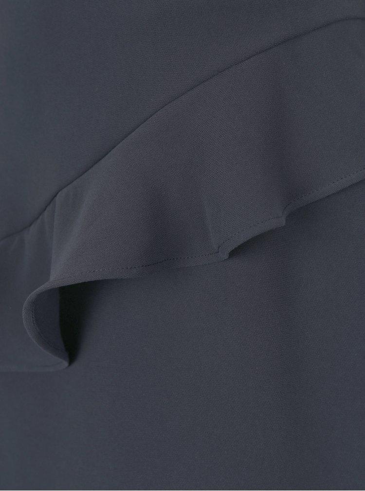 Tmavě modrá sukně s volánem VILA Nadja