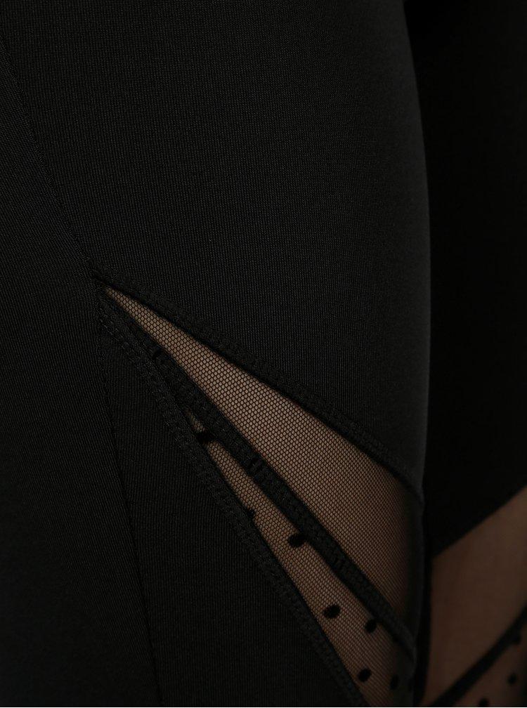 Černé legíny s průhlednými detaily ONLY Da
