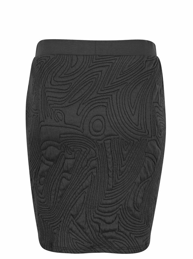 Černá pouzdrová sukně s 3D vzorem Jacqueline de Yong Wilder