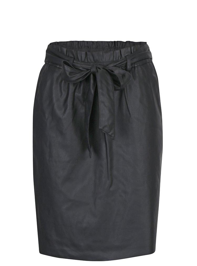 Černá sukně se zavazováním VILA Anja
