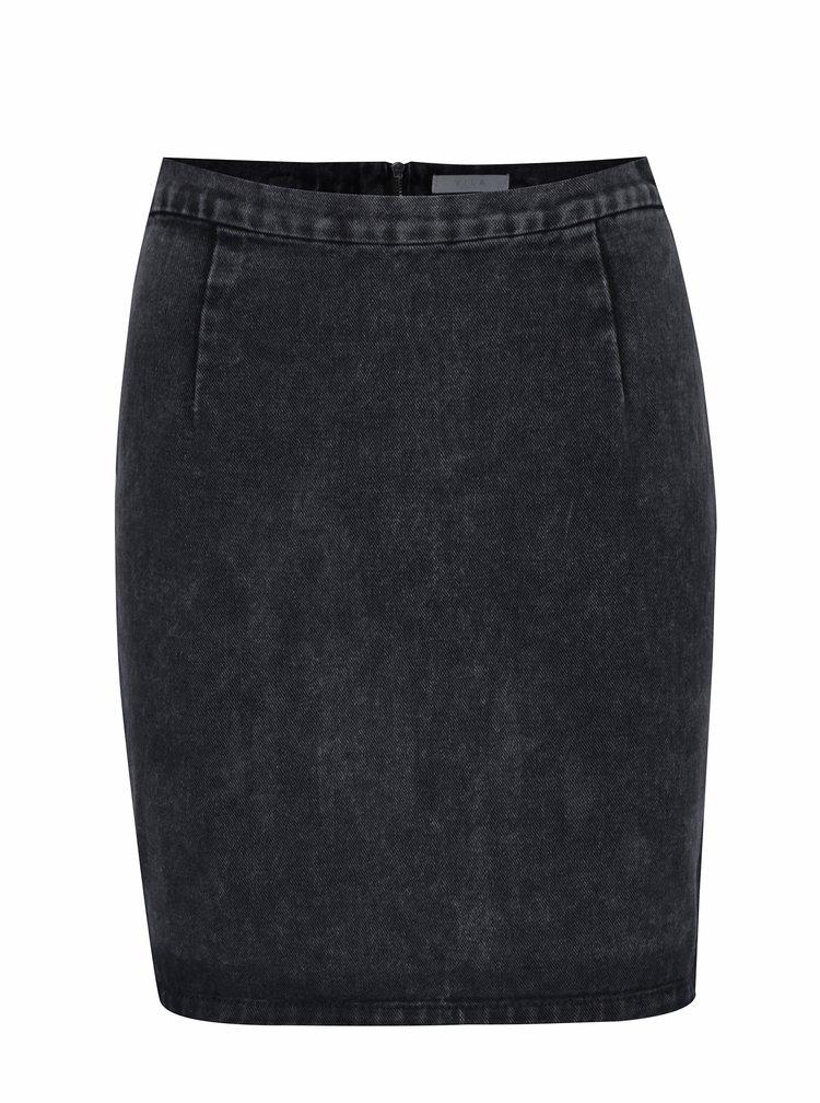 Černá džínová sukně VILA Amalla