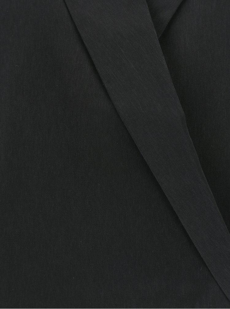 Černý overal s překládaným výstřihem VILA Holly