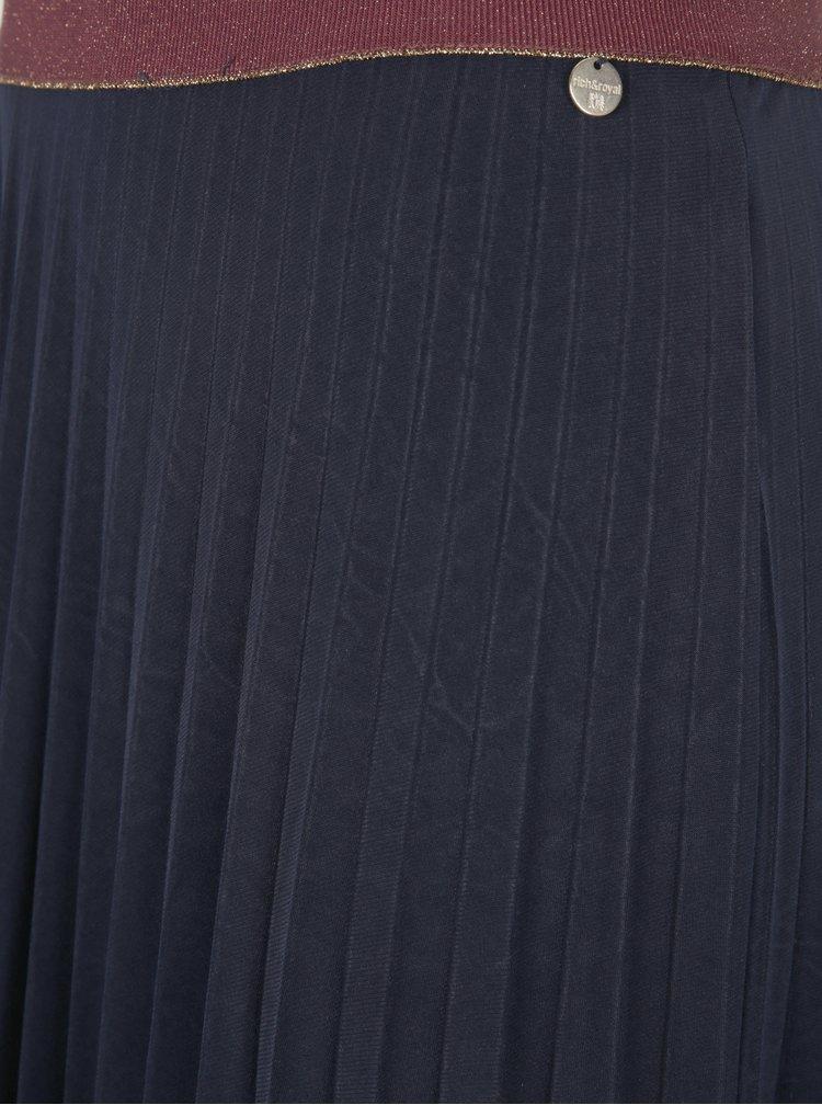 Vínová plisovaná maxi sukně Rich & Royal