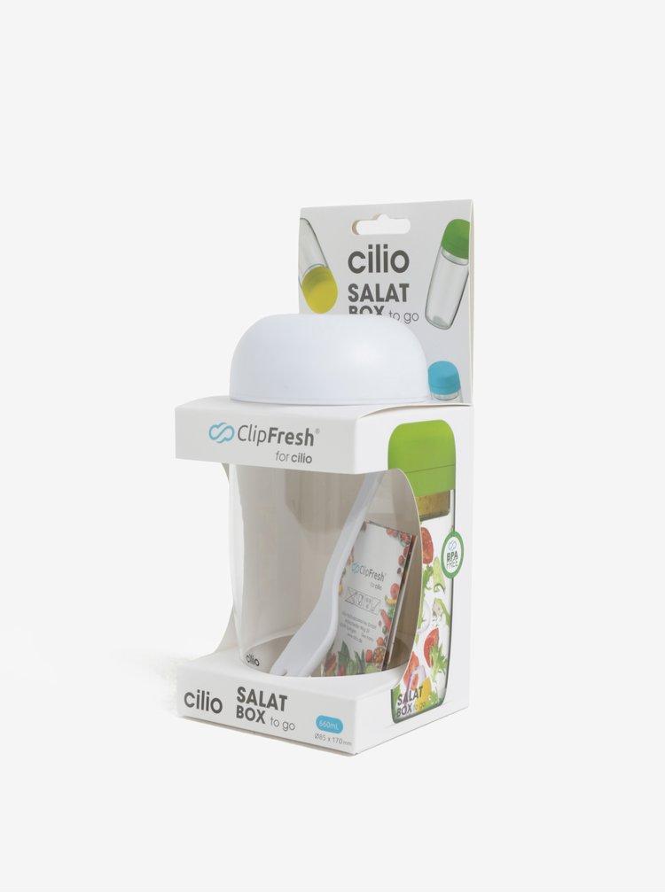 Bílý salátový box Cilio