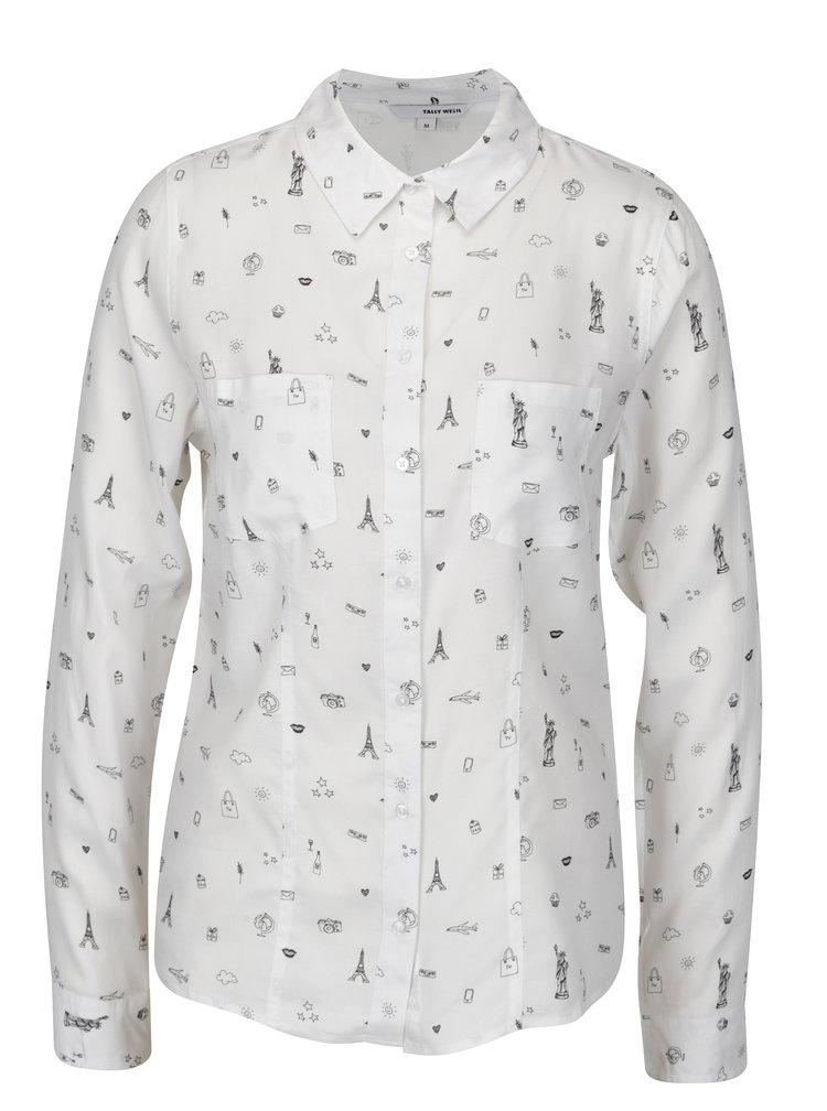 Bílá vzorovaná košile TALLY WEiJL