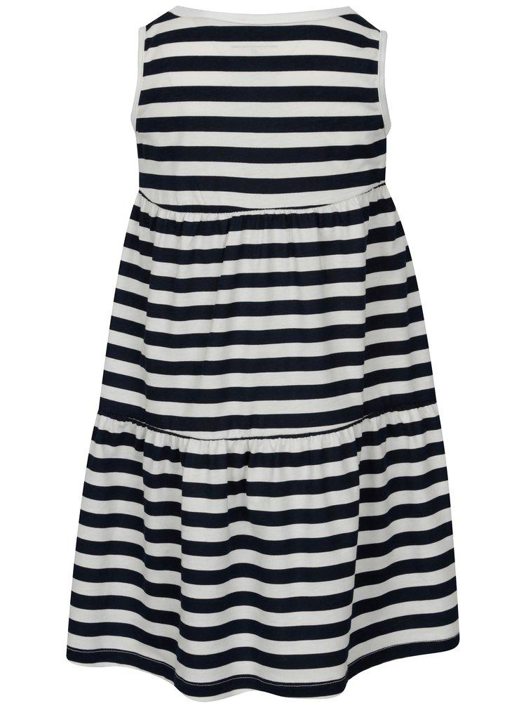 Bílo-modré pruhované holčičí šaty name it Vigga