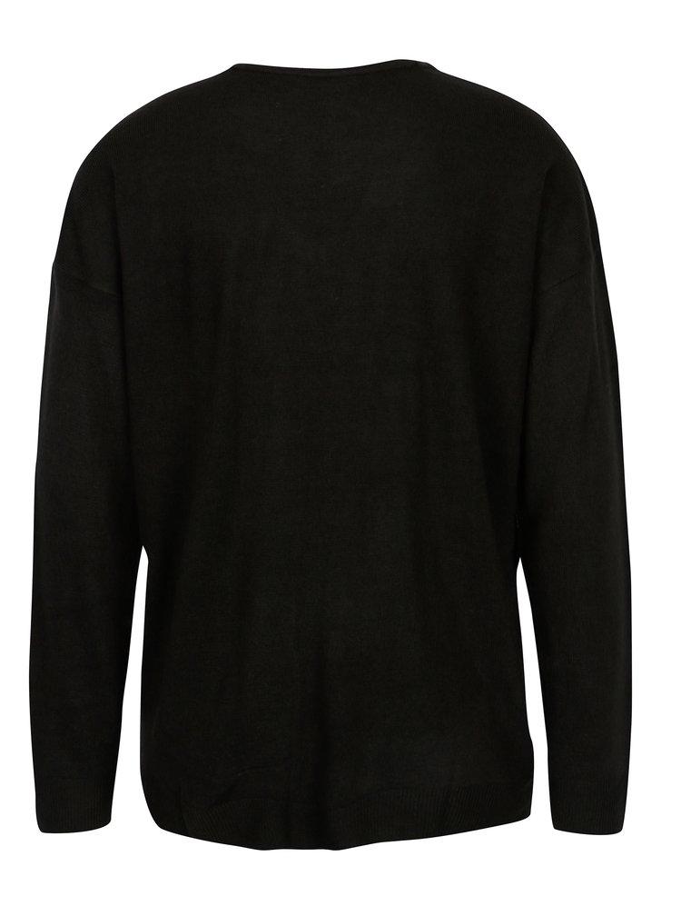Černý svetr s průstřihy Jacqueline de Yong More