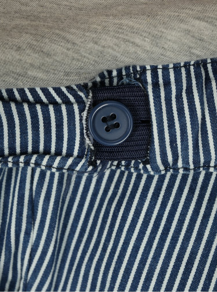 Pantaloni scurti albastri cu dungi pentru femei insarcinate - Mama.licious Daria