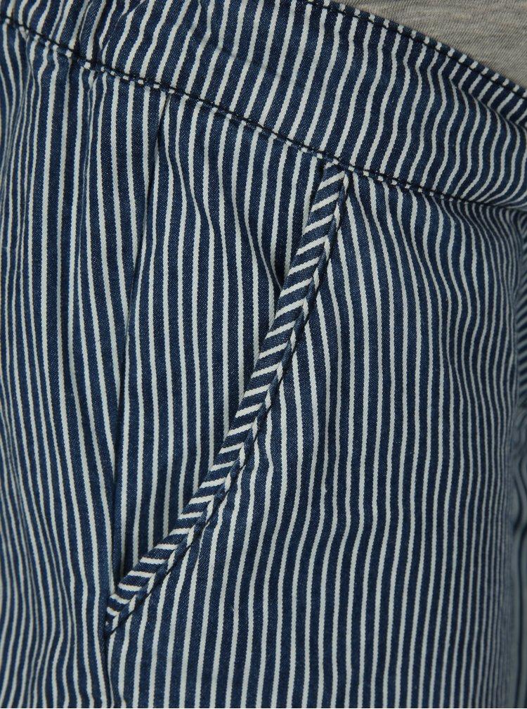 Modré pruhované těhotenské kraťasy Mama.licious Daria