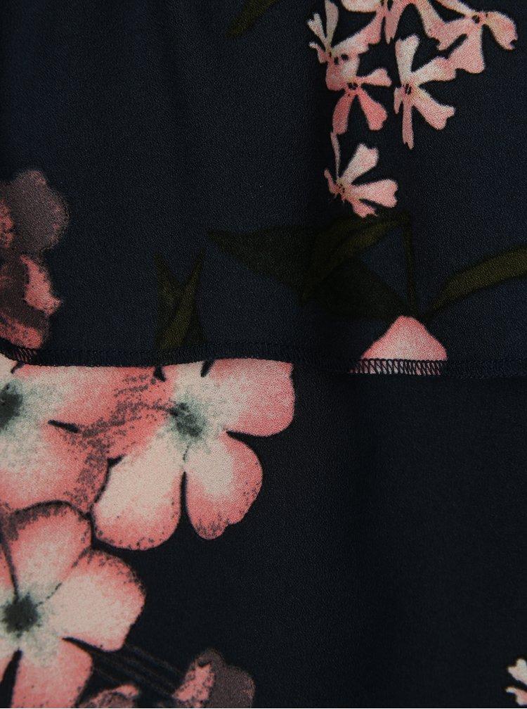 Tmavě modrá květovaná holčičí halenka LIMITED by name it Sanja
