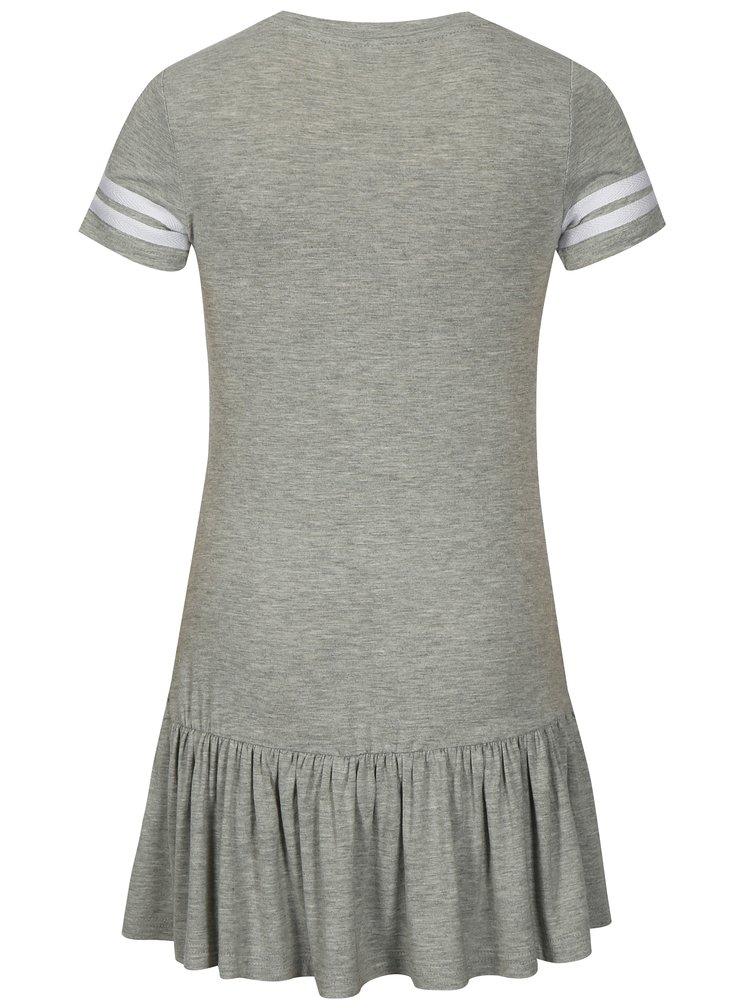 Šedé žíhané holčičí šaty a krátkým rukávem LIMITED by name it Sonja