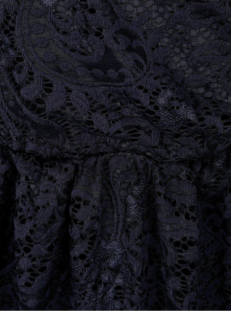 Tmavě modré krajkové šaty ONLY Sierra