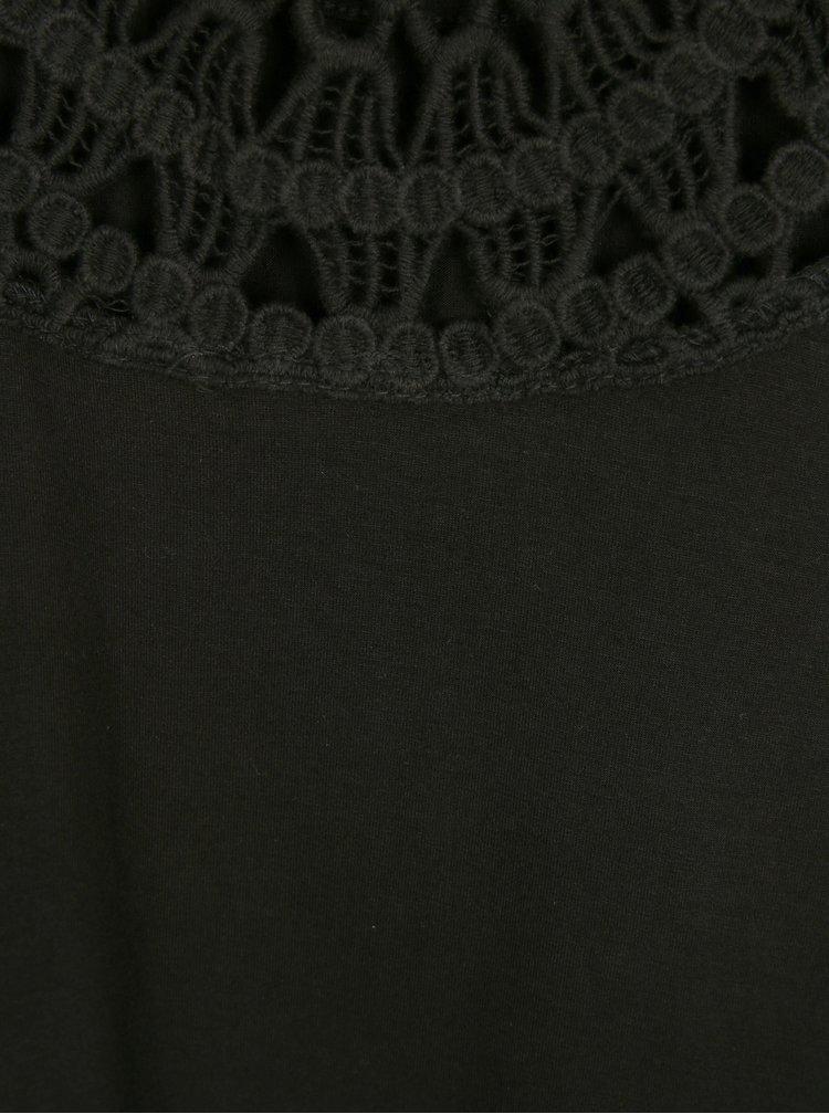 Černé dámské tílko s krajkou Rip Curl
