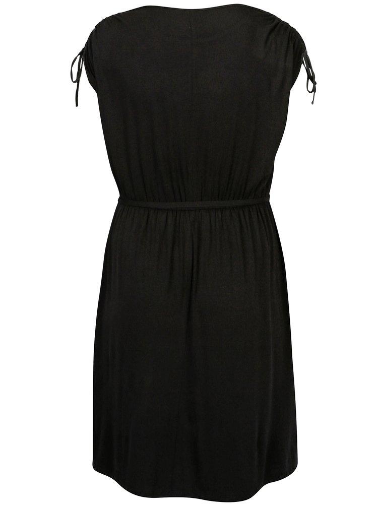 Černé šaty s krátkým rukávem Dorothy Perkins Curve