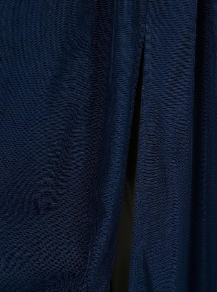 Tmavě modré maxišaty Little Mistress