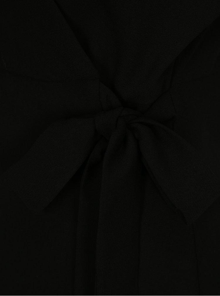 Černá zavinovací halenka VILA Shadina