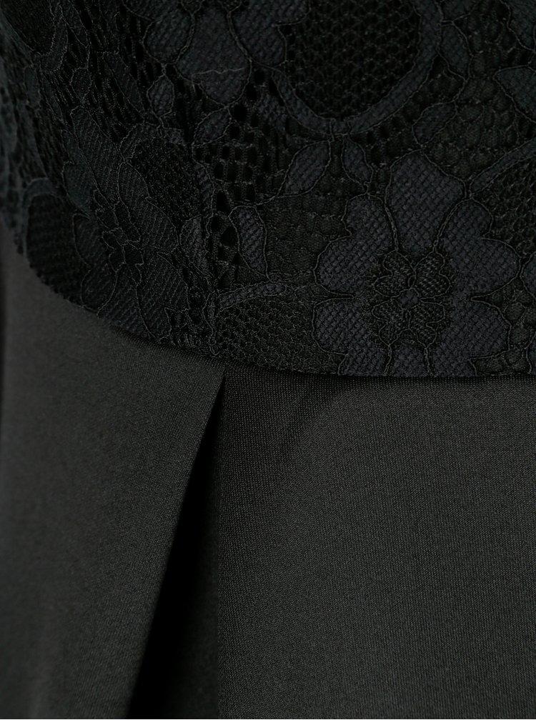 Rochie neagra cu insertie din dantela Dorothy Perkins Curve
