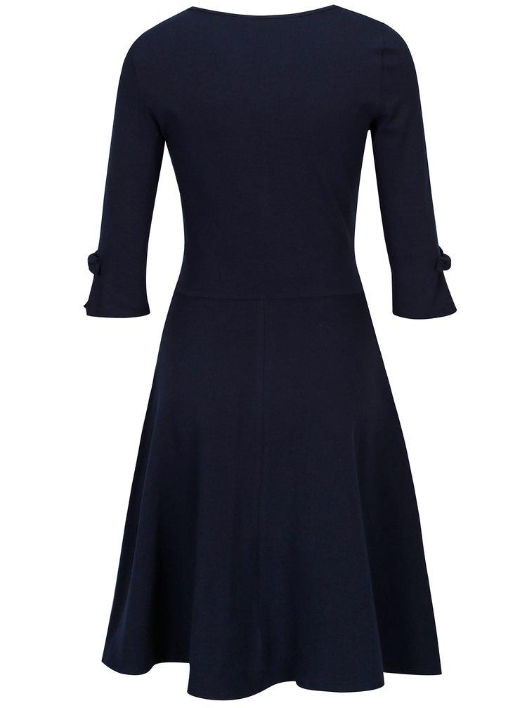 Tmavě modré šaty 3/4 rukávem Dorothy Perkins Tall