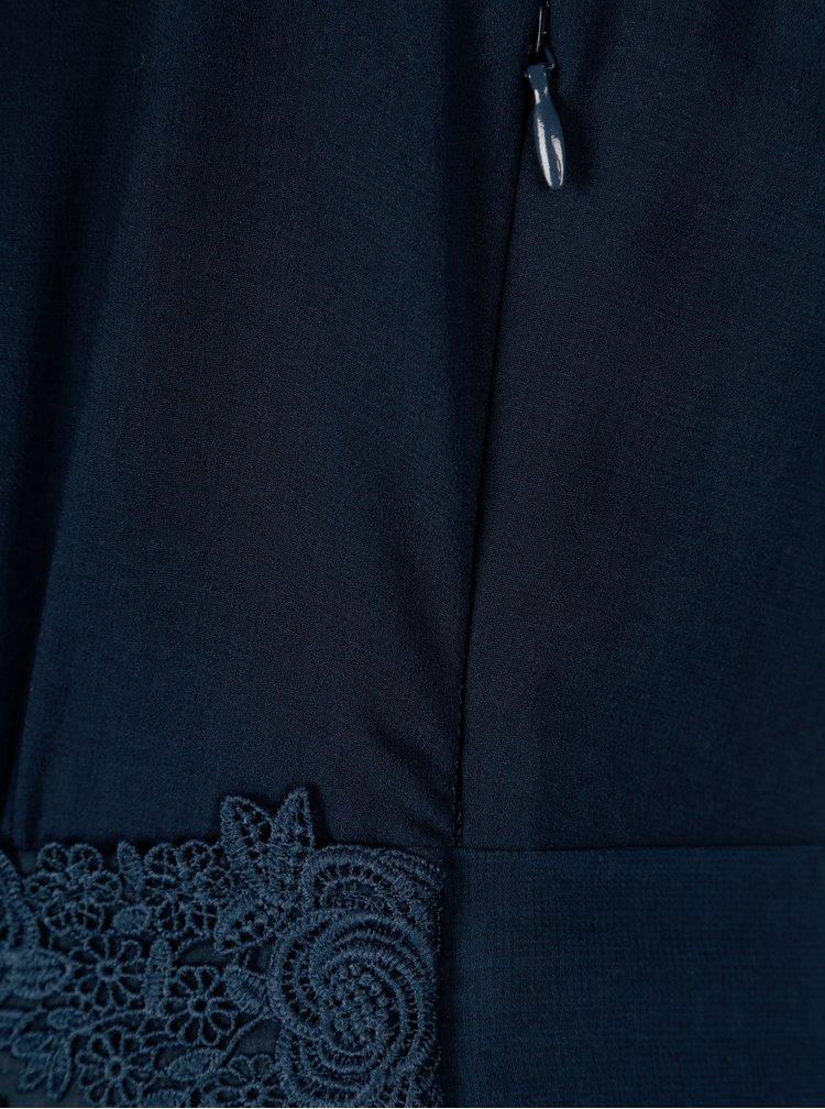 Tmavě modré maxišaty s volány Dorothy Perkins