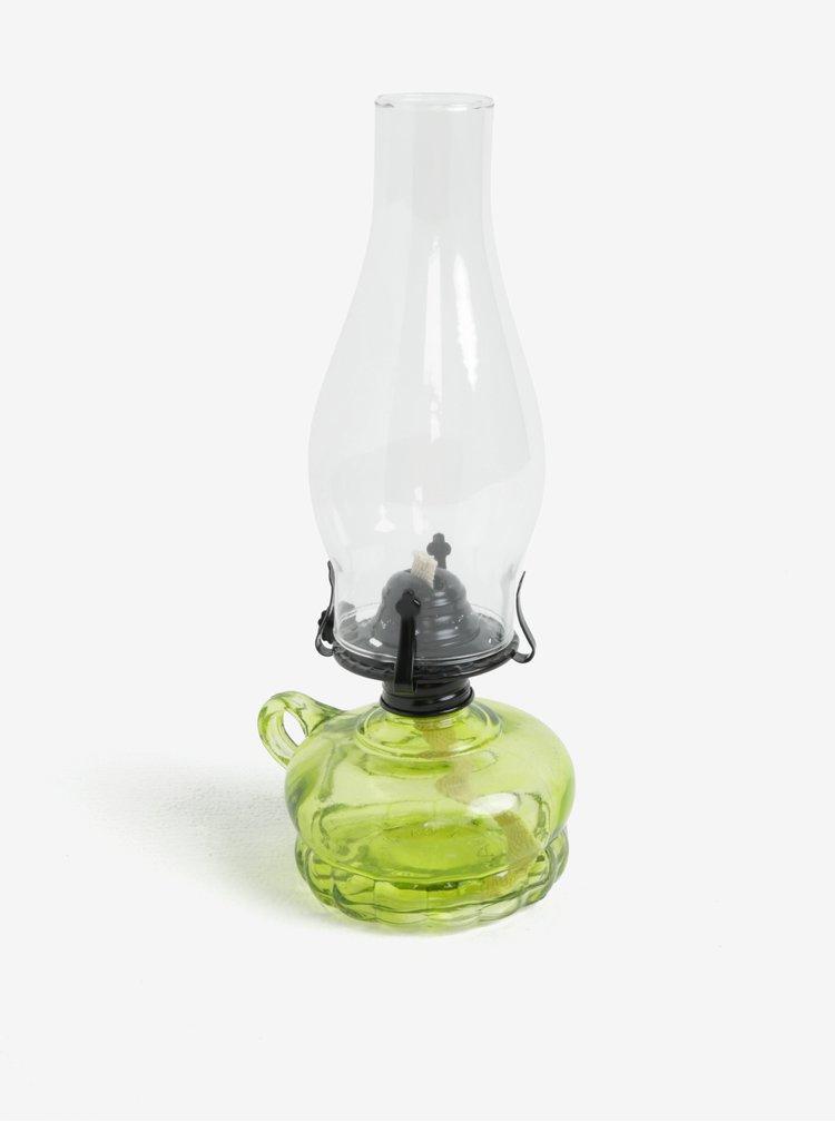 Zelená transparentní petrolejová lampa Dakls