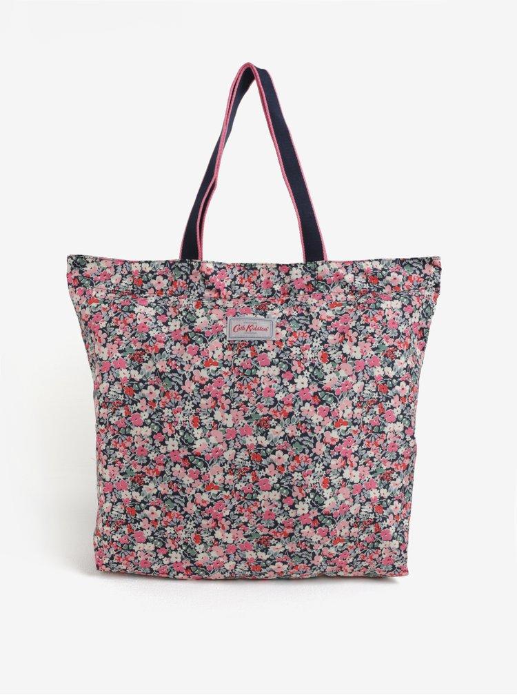 Černo-růžová dámská květovaná taška Cath Kidston