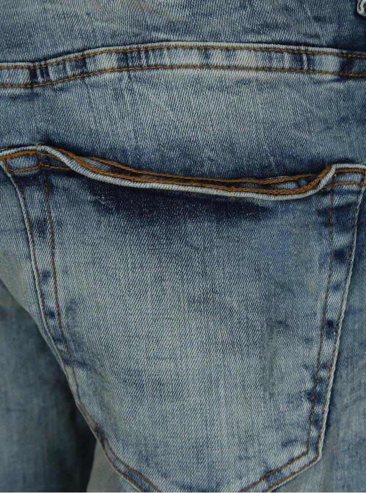 Modré džínové regular kraťasy ONLY & SONS Ply