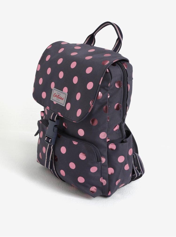 Fialový puntíkovaný batoh Cath Kidston
