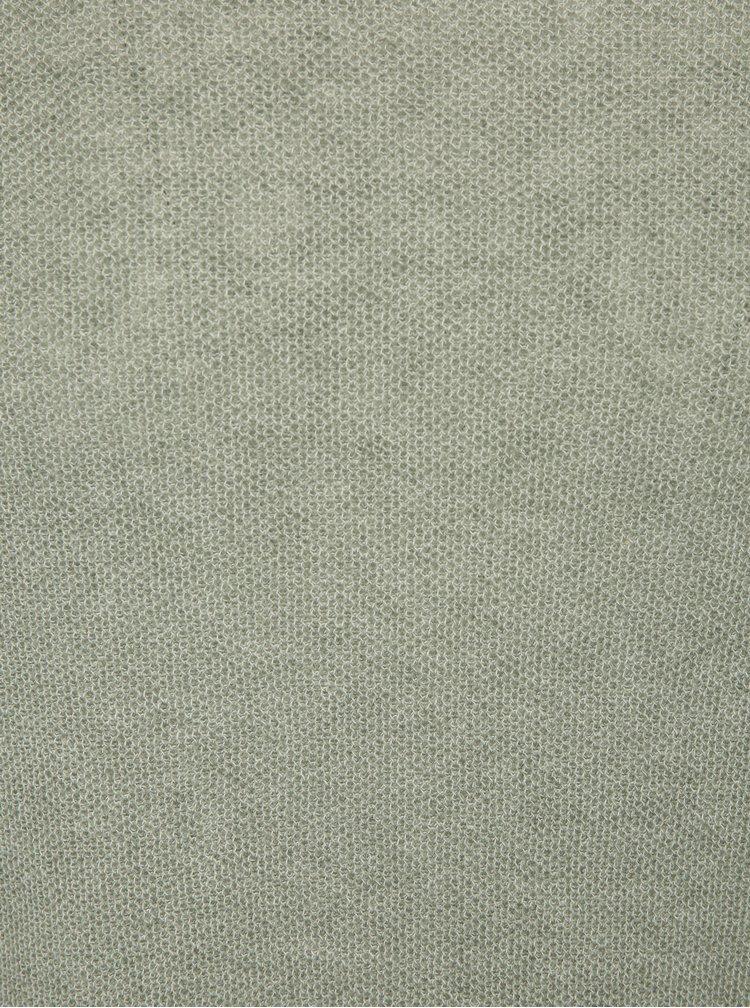 Světle zelený žíhaný svetr s příměsí lnu Jack & Jones Originals Orlito