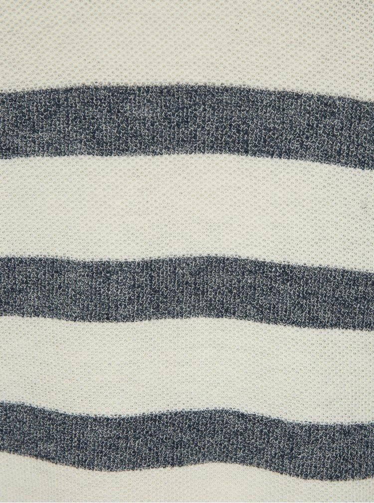Modro-krémový pruhovaný svetr s příměsí lnu Jack & Jones Originals Orlito