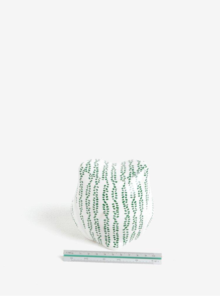 Zeleno-bílá dekorace ve tvaru sovy Kaemingk