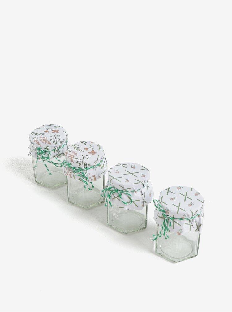 Set de 4 borcane de sticla cu mesaj - Kaemingk
