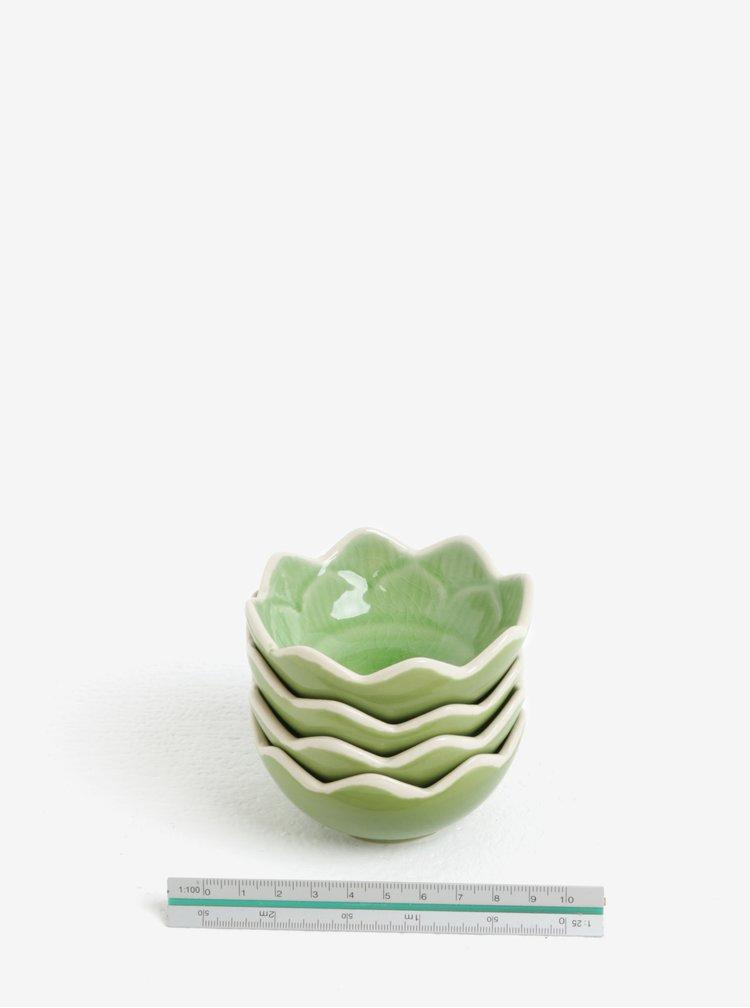 Sada čtyř mističek v zelené barvě Kaemingk