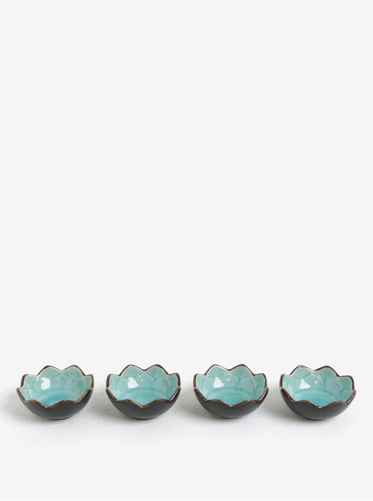 Sada čtyř mističek v tyrkysové barvě Kaemingk