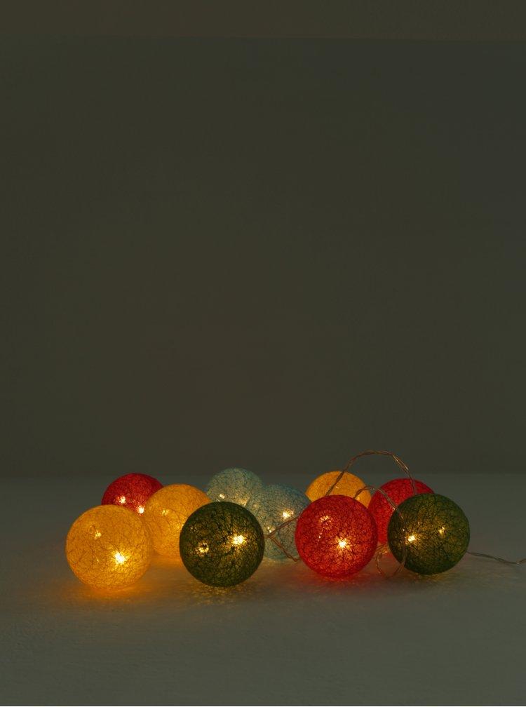 LED dekorace ve žluté a růžové barvě Kaemingk
