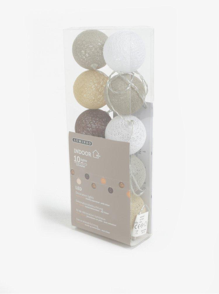 LED dekorace v hnědé a šedé barvě Kaemingk