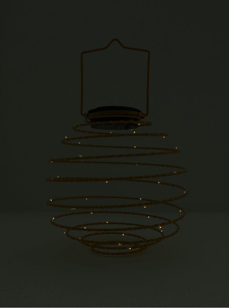 Lampa LED galbena cu incarcare solara - Kaemingk