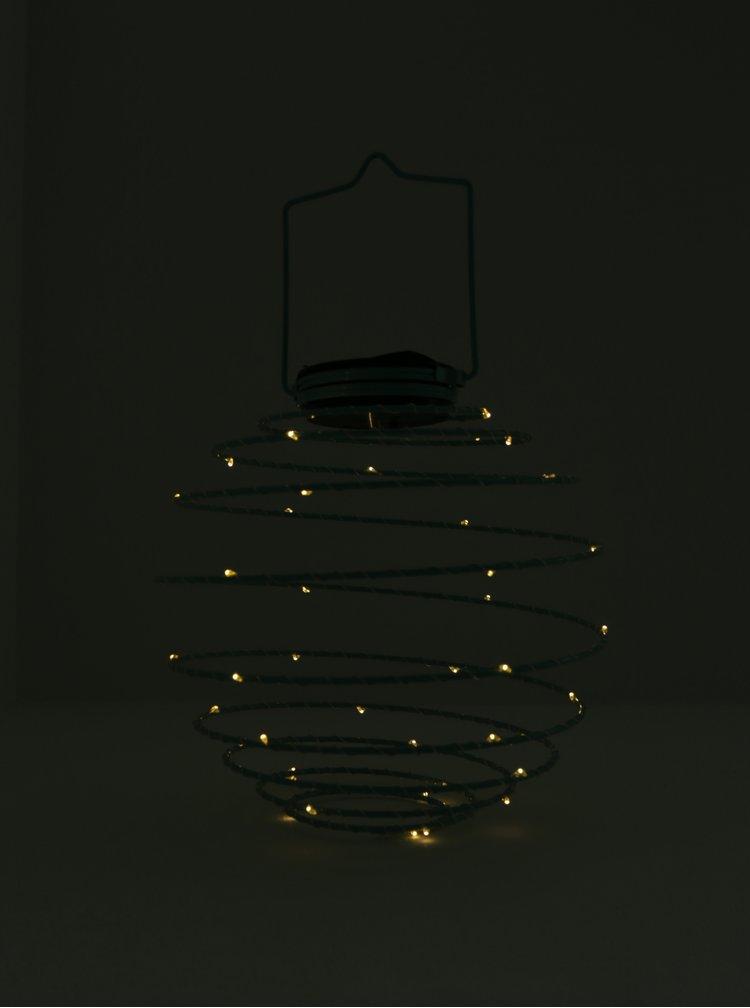 Lampa LED cu incarcare solara verde mentol - Kaemingk