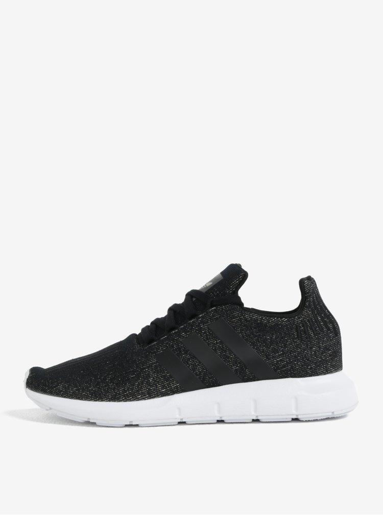 Černé dámské třpytivé tenisky adidas Originals Swift run