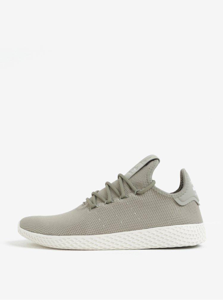 Pantofi sport kaki pentru barbati adidas Originals by Pharrell Williams Tennis Hu