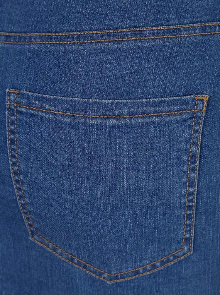 Modrá rifľová sukňa s aplikáciou Noisy May Be Lucy